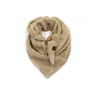 Naturel triangle Teddy sjaal.