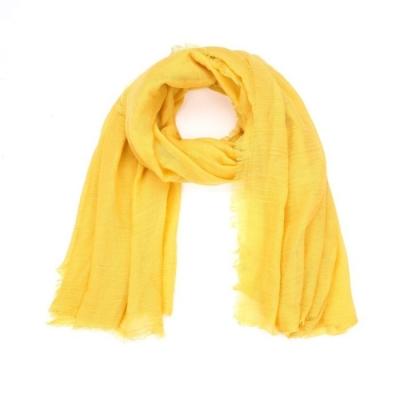 Effen sjaal geel.