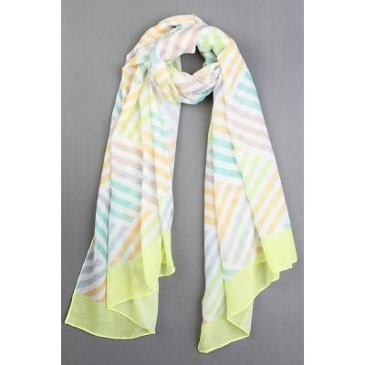 Sjaal Suzy geel.