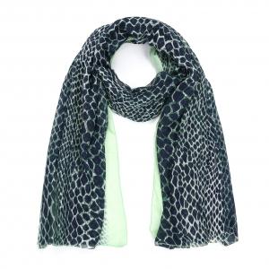 Sjaal dierenprint groen.