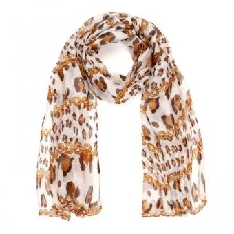 Sjaal summer Leopard bruin.
