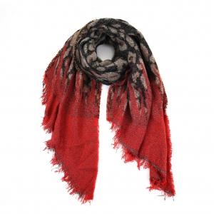 Sjaal met punt rood.