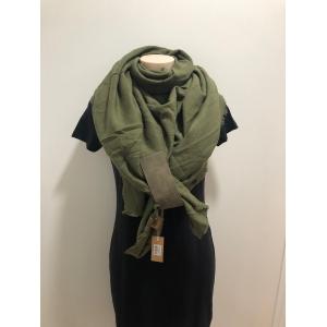 Sjaal vierkant groen.