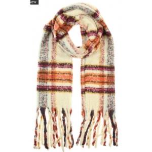 Warme sjaal ruit wit.