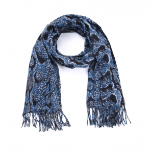 Sjaal snake blauw.