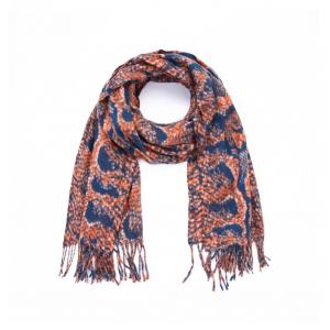 Sjaal snake oranje.
