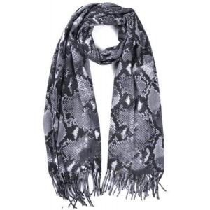 Sjaal snake grijs.