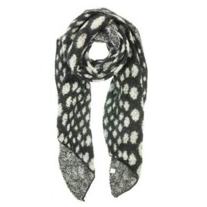 Sjaal met stippen zwart.