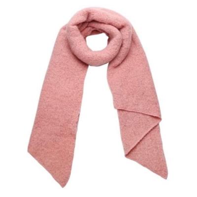 Warme sjaal met punt roze.