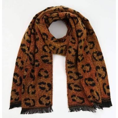 Sjaal panterprint orange.