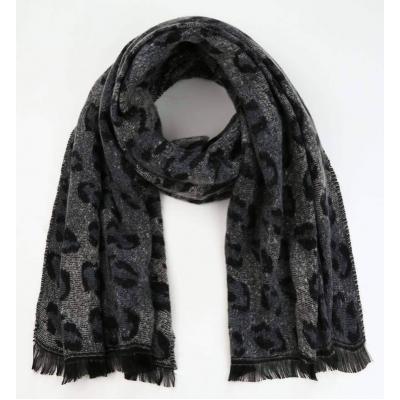 Sjaal panterprint grey.