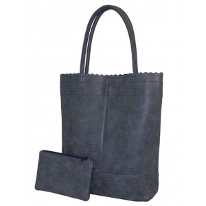 Beagles shopper croco blauw.