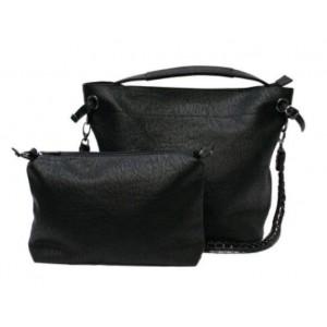 Tas met binnentas zwart.