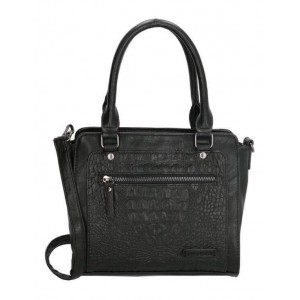 Zwarte tas met croco print.