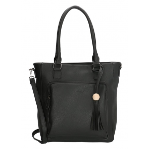 Charm tas zwart met kwast.