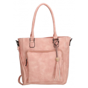 Charm tas roze met kwast.