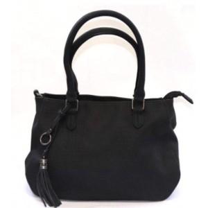 Mandoline tas zwart met kwast.
