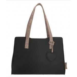944bd32e89a Beagles tas met hartje zwart.