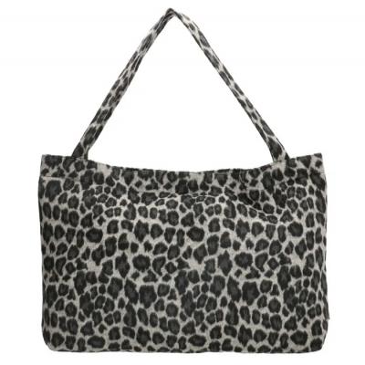 Beagles Ariany shopper large luipaard zwart/ grijs.