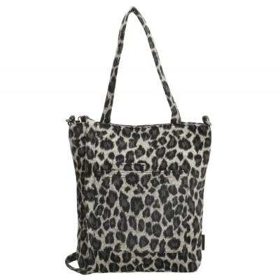 Beagles Ariany handtas luipaard zwart/ grijs.