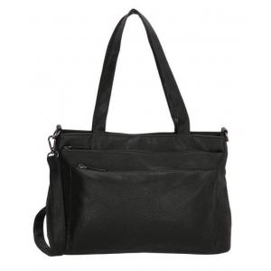 Beagles tas met 3 vakken zwart.