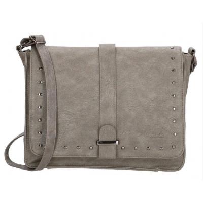Beagles tas met stud grijs groot.