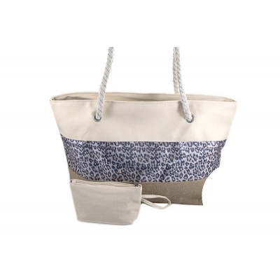 Stoere naturel beach shopper Long Beach
