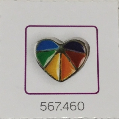 Bedel regenboog hartje.