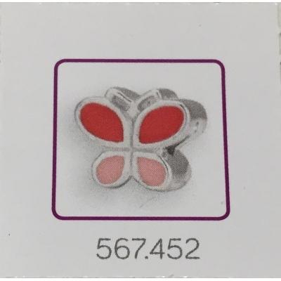 Bedel vlinder roze 2.