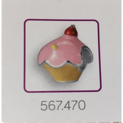 Bedel roze cupcake.