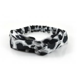 Haarband panterprint zwart/wit.