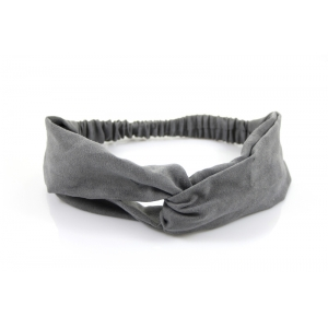 Haarband suèdine grijs.