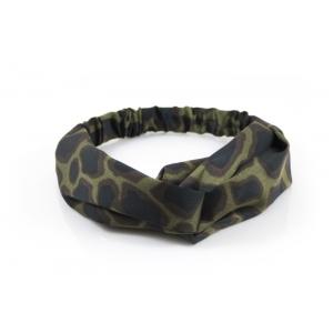 Haarband panterprint groen.