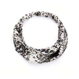 Haarband zwart en wit.