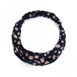 Haarband donkerblauw.