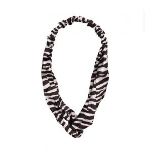 Haarband zebra zwart/ wit.