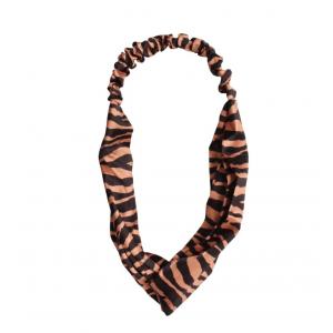 Haarband zebra bruin.