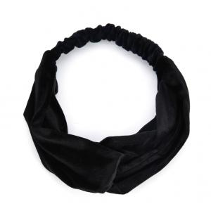 Velvet haarband zwart.