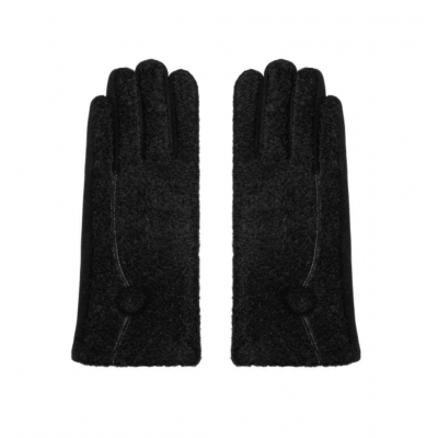 Handschoenen met knoopje zwart.