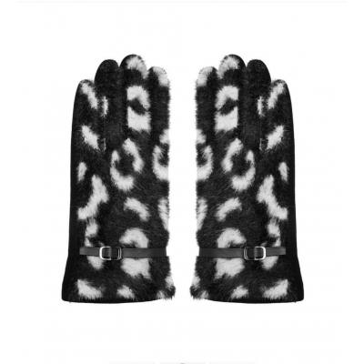 Handschoenen met gespje zwart.