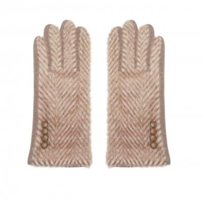 Handschoenen zigzag bruin.