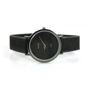 Horloge drukknoop zwart.