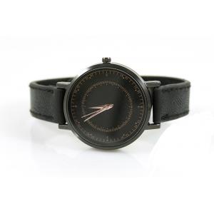 Horloge drukknoop zwart met rosé.