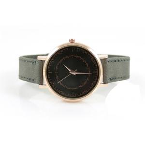 Horloge drukknoop grijs met rosé.