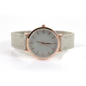 Drukknoop horloge wit met rose.