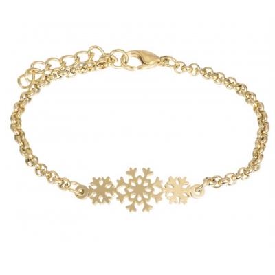 Armband Snowflake goud.