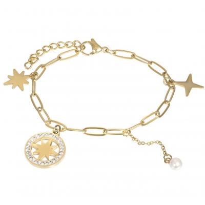 Armband Sparkle goud.