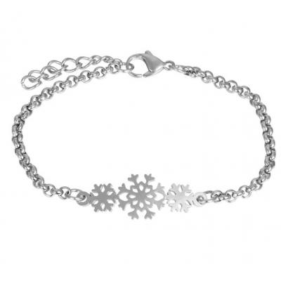 Armband Snowflake zilver.