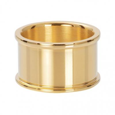 Basis ring goud 12 mm.