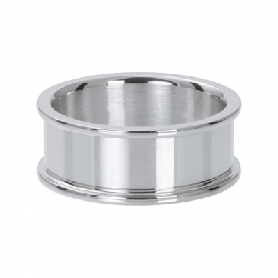 Basis ring zilver 8 mm.